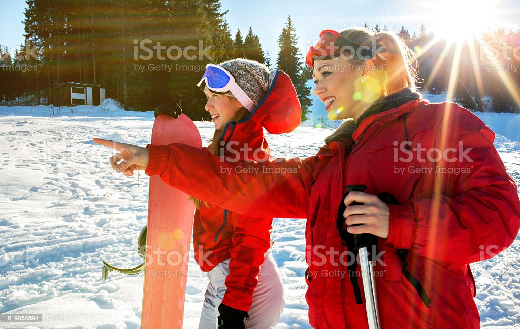 There is perfect place for snowboarding! stock photo