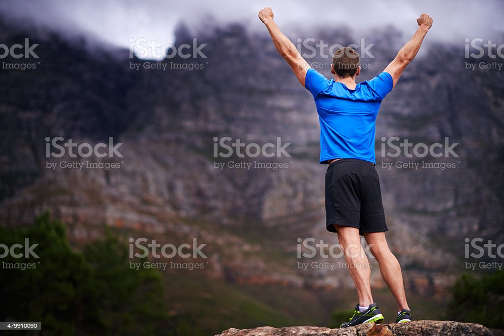 There isn't any mountain high enough! stock photo