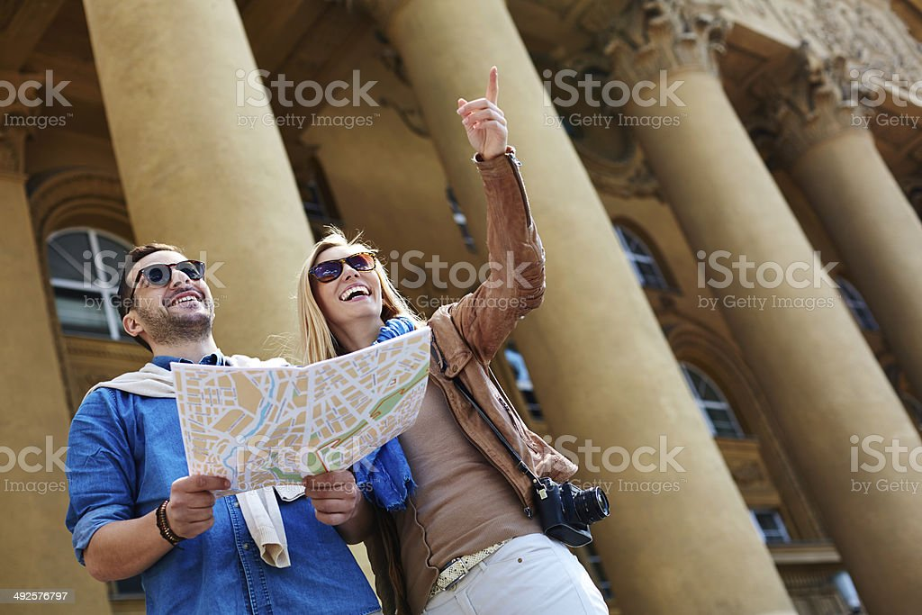 There it is! stock photo