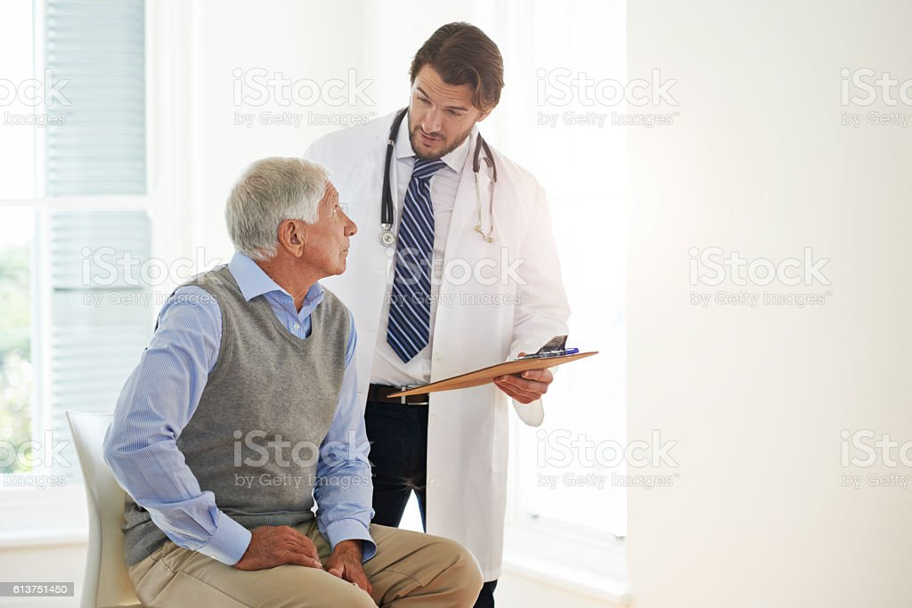 There to guide him to health again stock photo