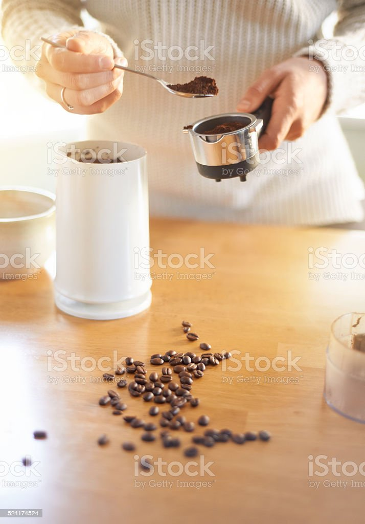 There's a fine art to making great coffee stock photo