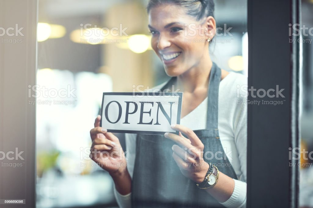 There's a new store on the block stock photo