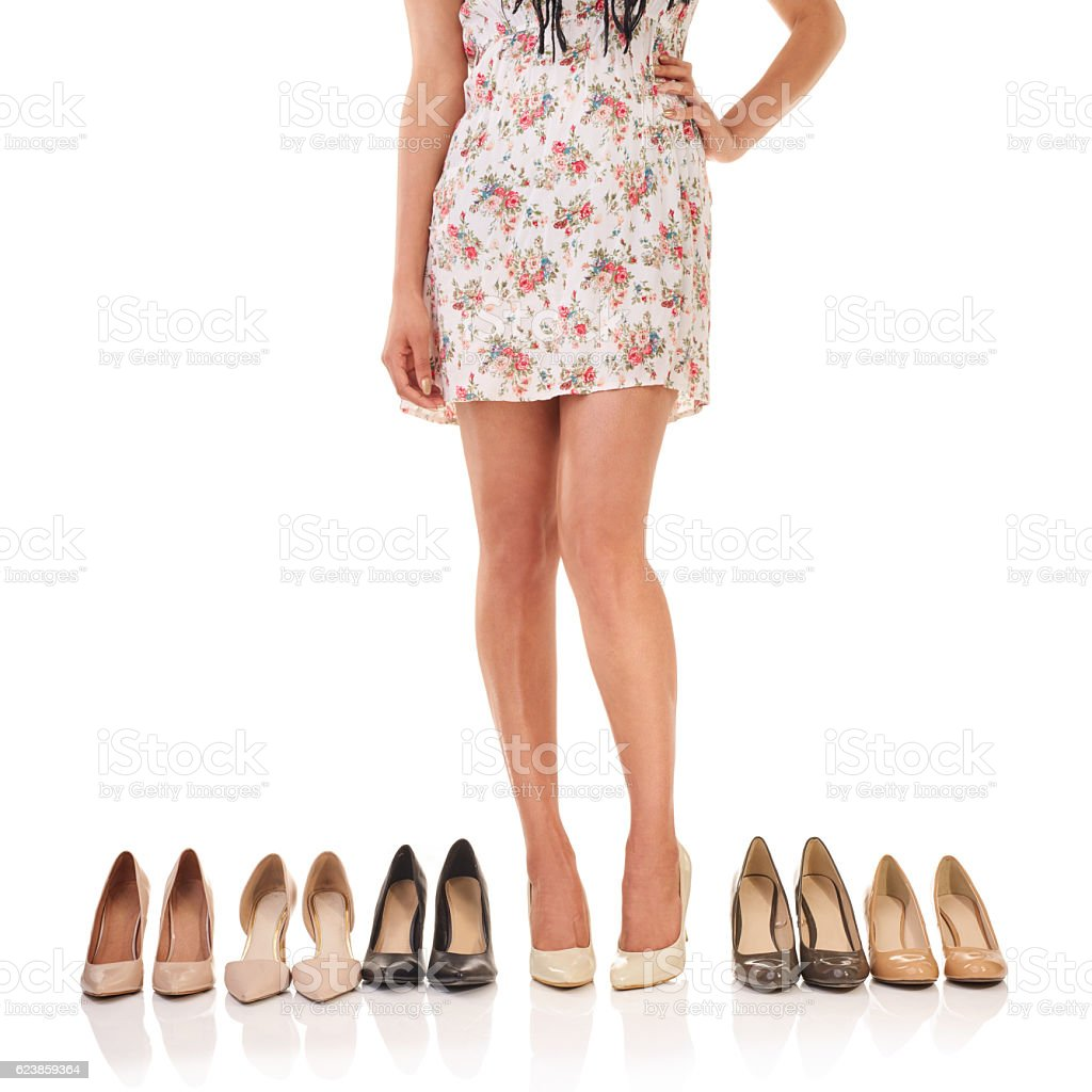 There's a perfect pair for every outfit stock photo