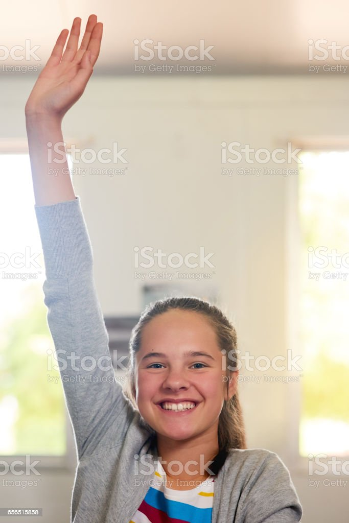 There's a reason she's the teacher's pet stock photo