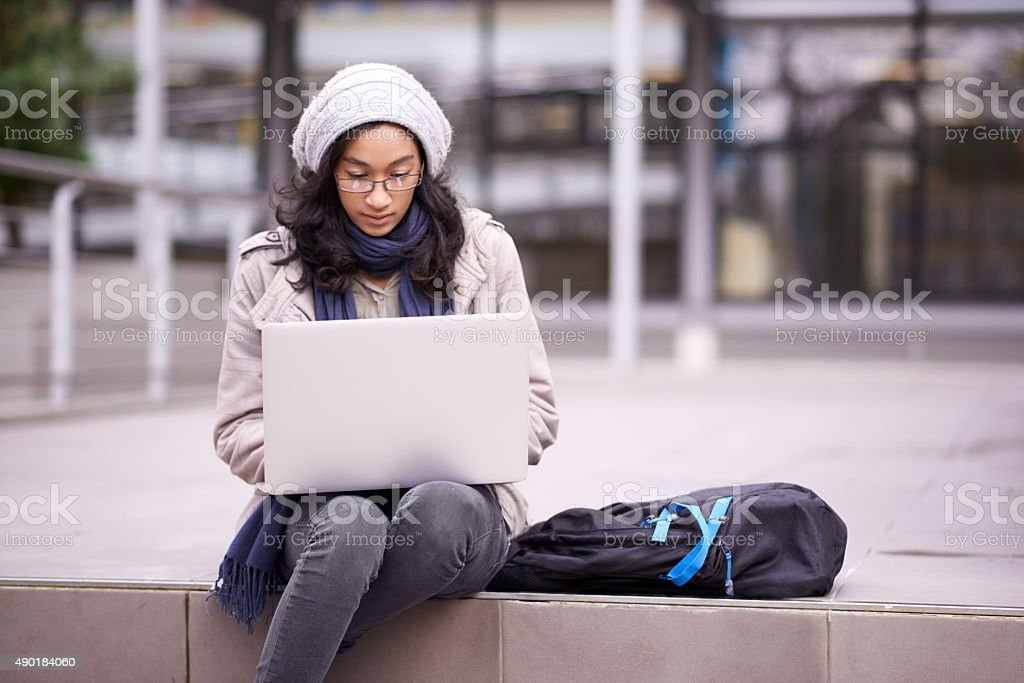 There's always time to cram in some studying stock photo