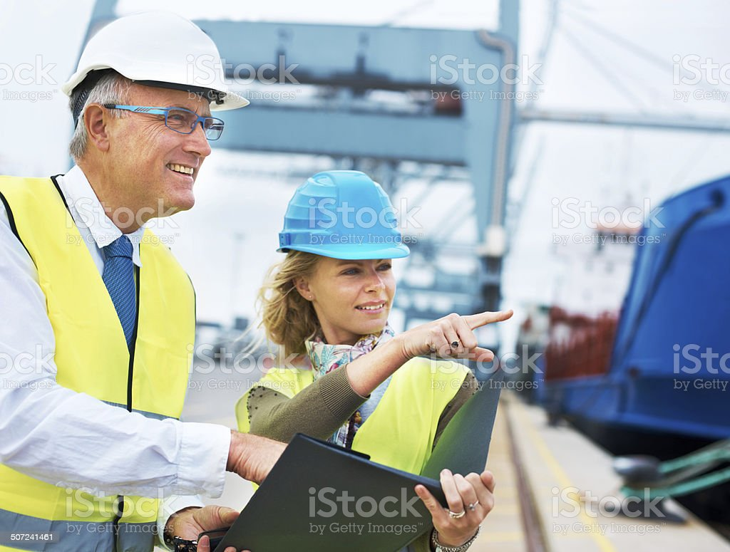 There's an open berth down that side... stock photo