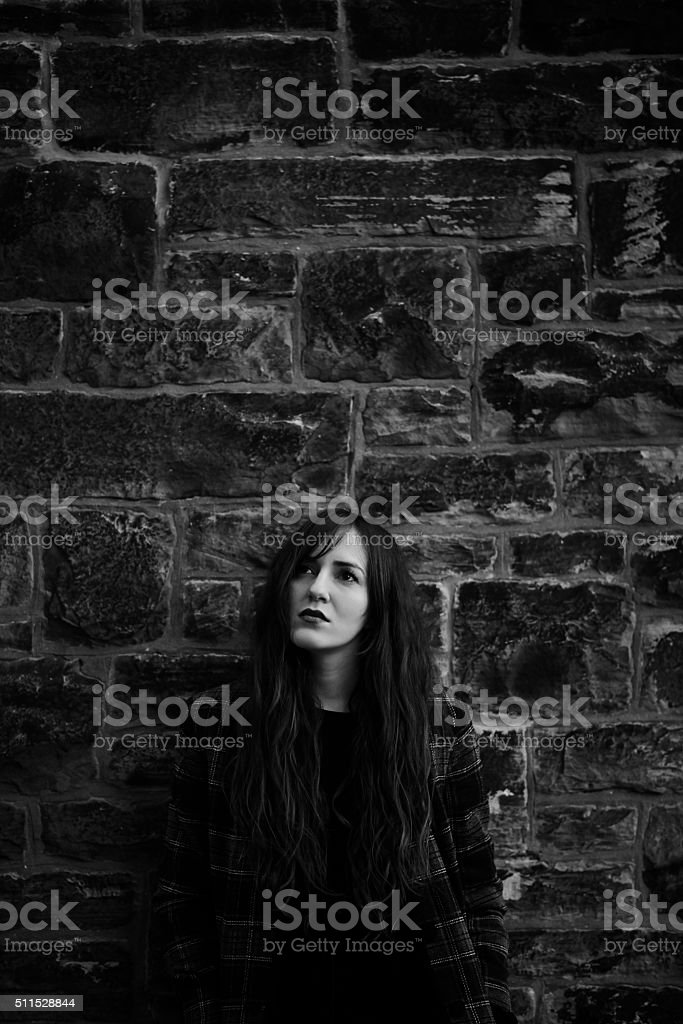 There's beauty in everything, even in silence and darkness stock photo