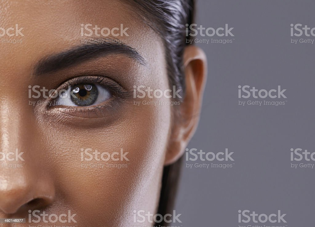 There's inner beauty behind those eyes stock photo