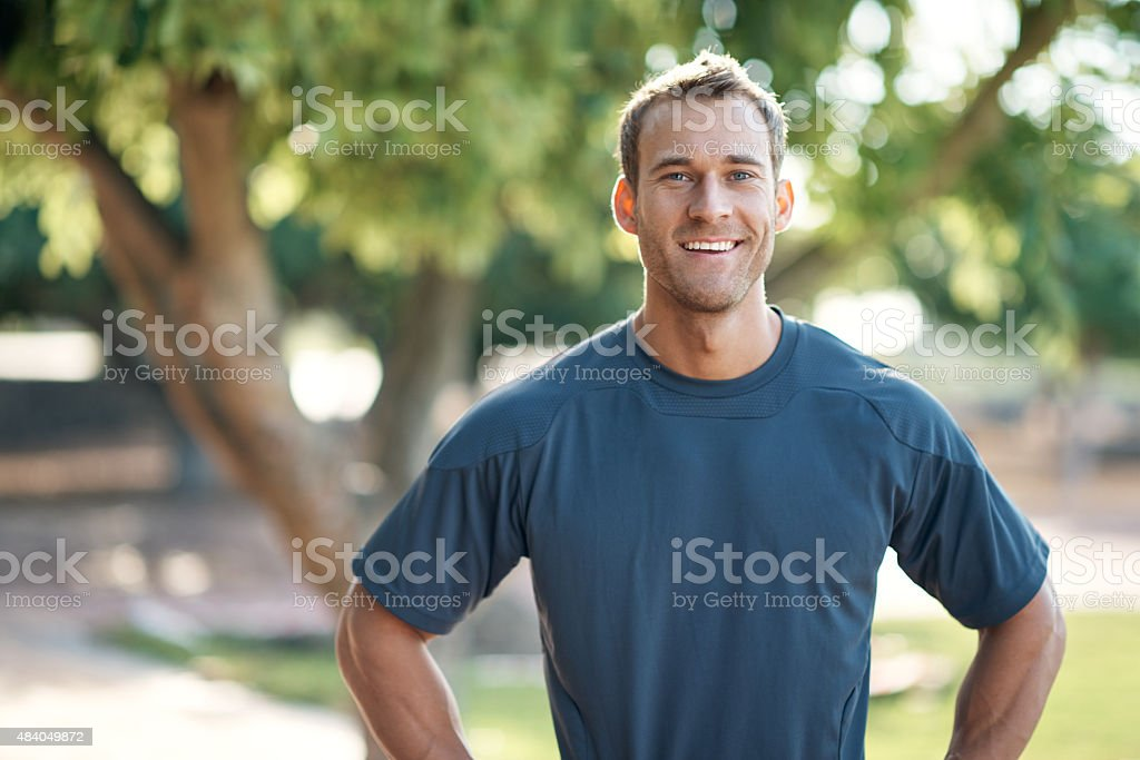 There's no better feeling than achieving your fitness goals stock photo