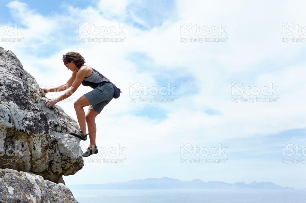 There's no mountain high enough! stock photo