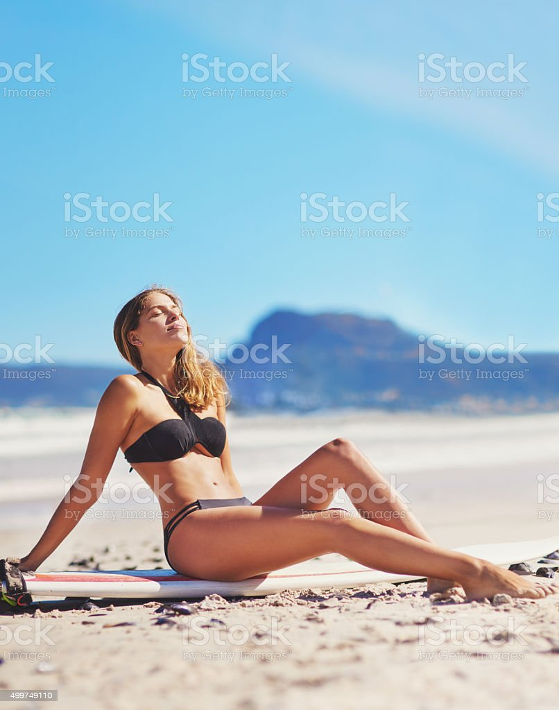 There's no place like home except the beach stock photo