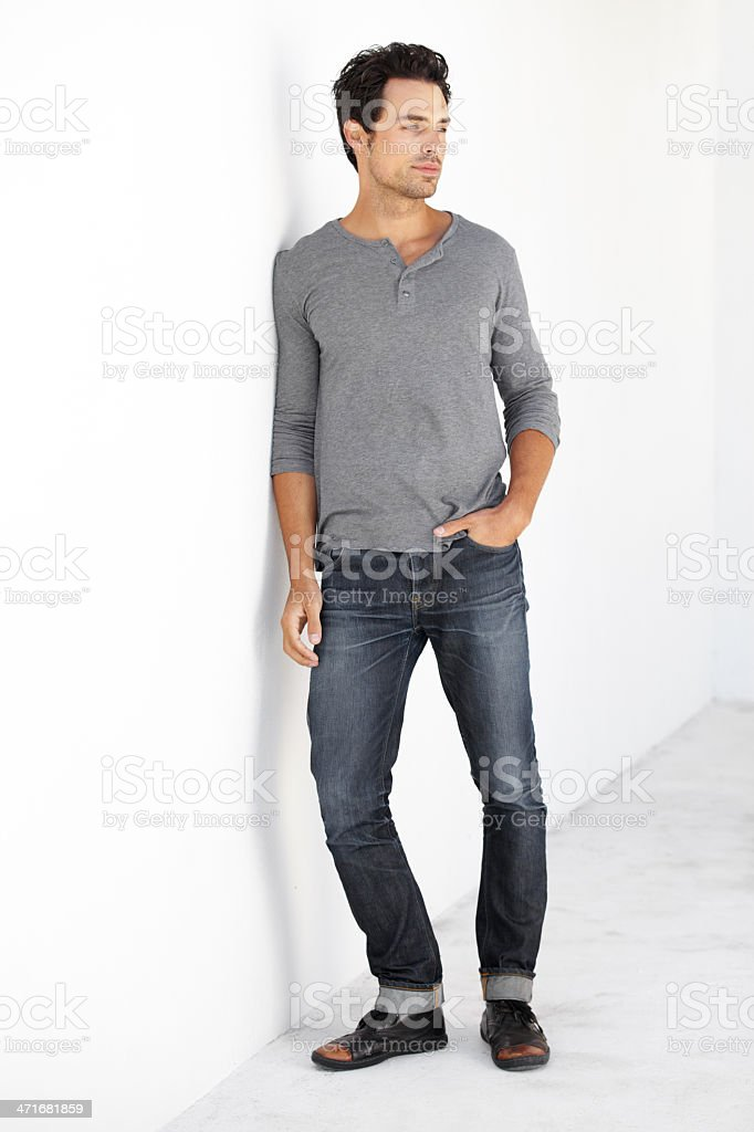 There's no questioning his fashion sense royalty-free stock photo
