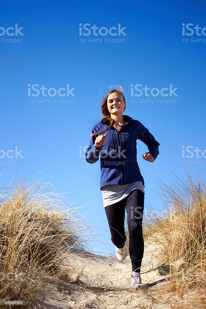 There's no stopping her now stock photo