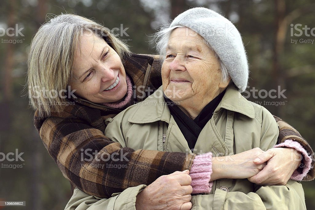 There's no stronger bond than a mother and daughter stock photo