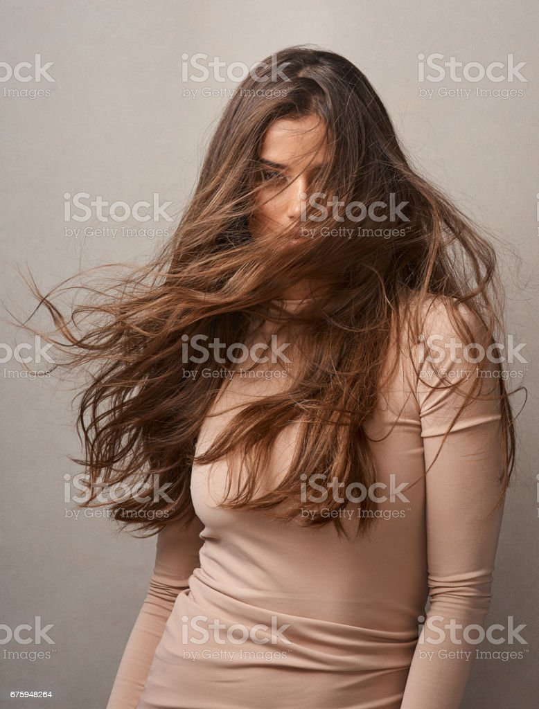 There's no such thing as a bad hair day stock photo