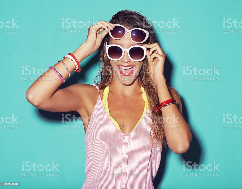 There's no such thing as too many pairs of sunglasses stock photo