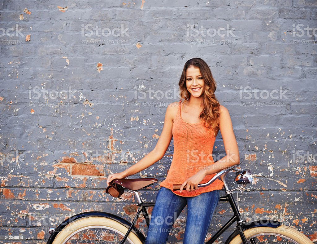 There's nothing a bike ride can't fix! stock photo