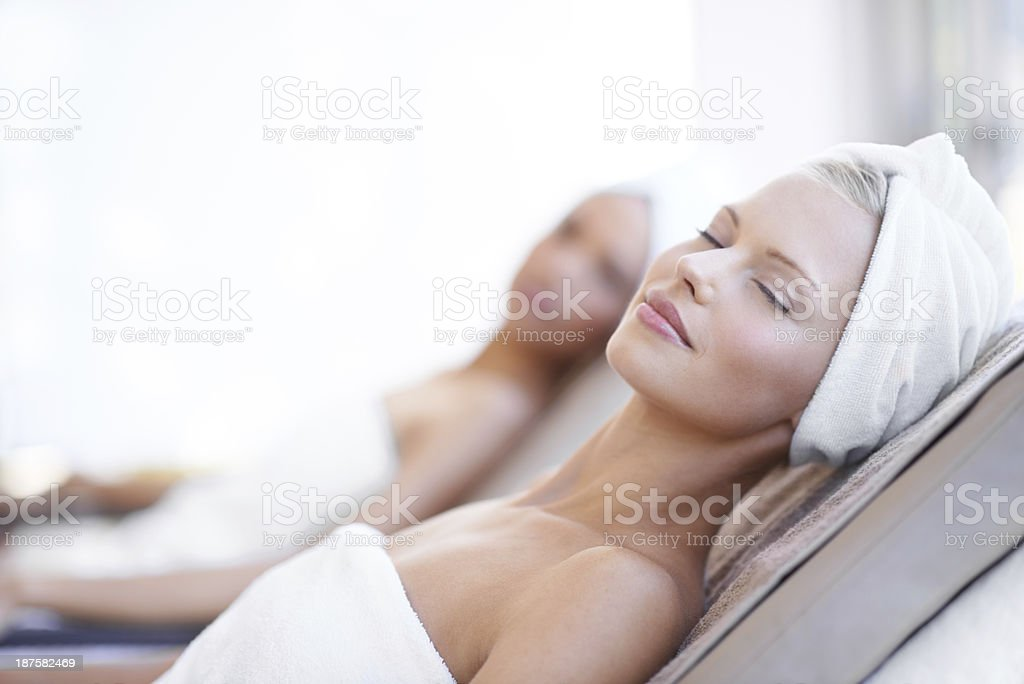 There's nothing better than a day at the spa stock photo