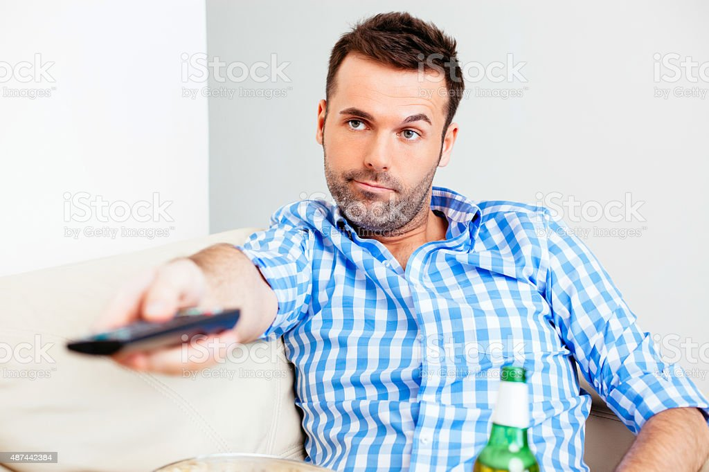 There's nothing interesting to watch! stock photo