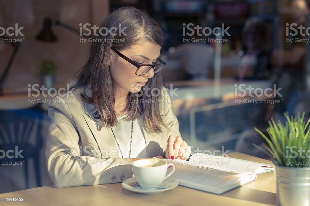 There's Nothing Like A Coffee And A Good Book stock photo