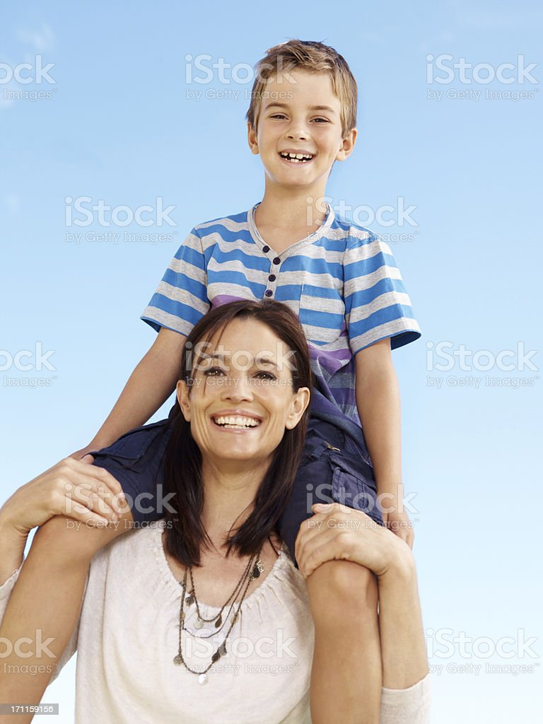 There's nothing like a mother's support royalty-free stock photo