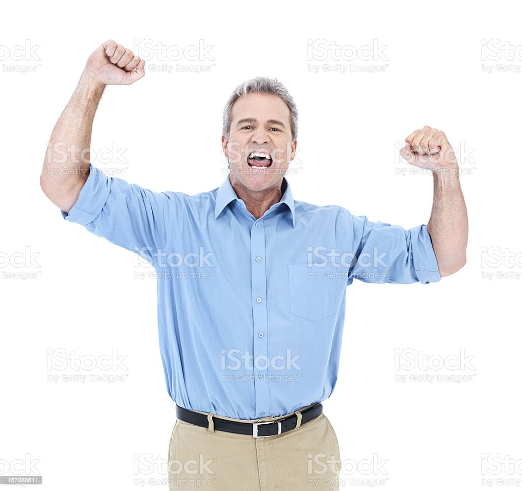 There's nothing like the feel of business success royalty-free stock photo
