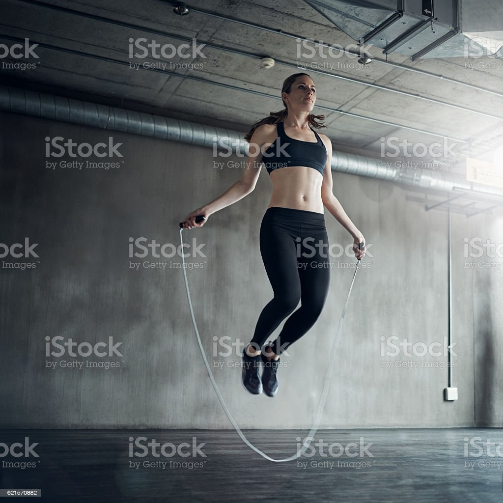 There's nothing quite like setting a personal best stock photo