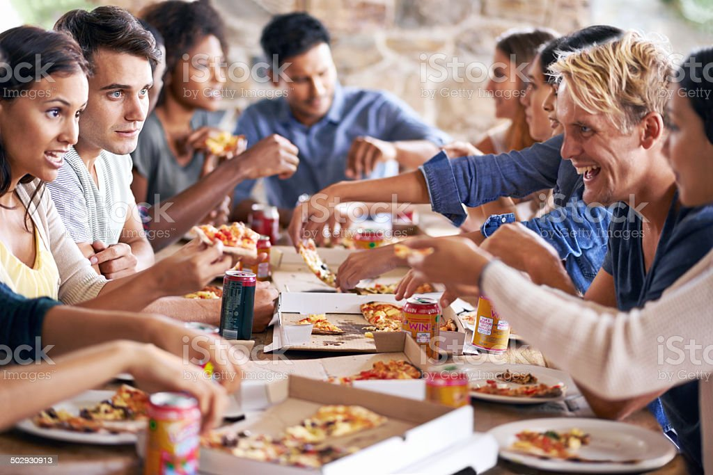 There's pizza for all stock photo