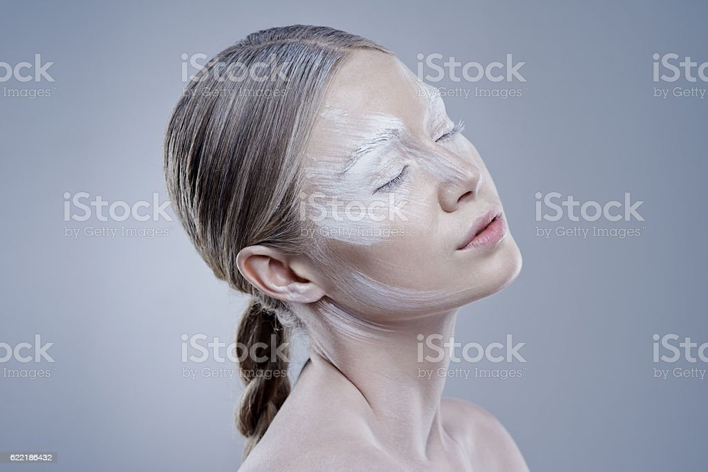There's something incredibly liberating about revealing one's true colours stock photo