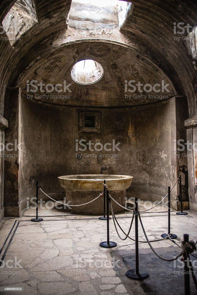 Thermae, Roman Baths, Pompeii stock photo