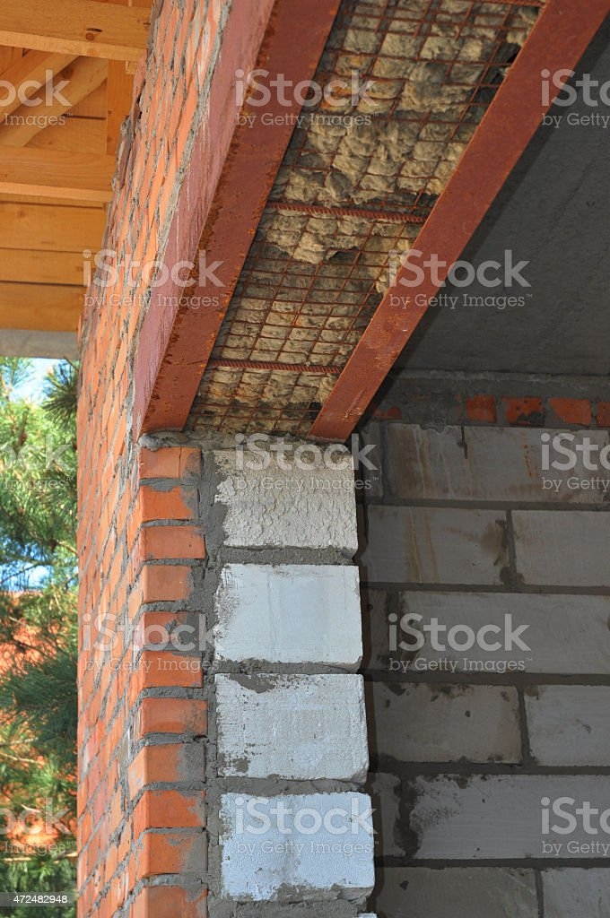 Thermal bridges and door insulation in house construction. stock photo