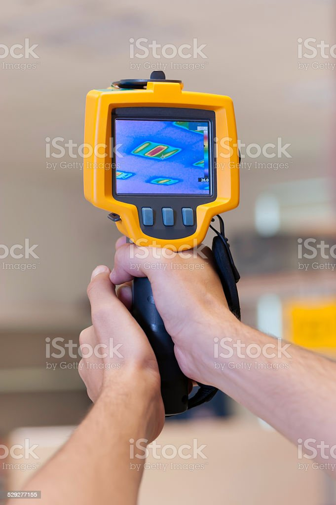 Thermal Camera with clipping path stock photo