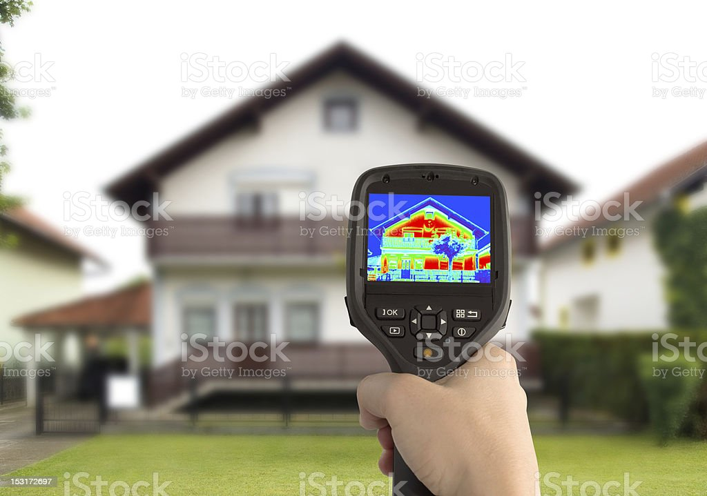 Thermal Image of the House stock photo