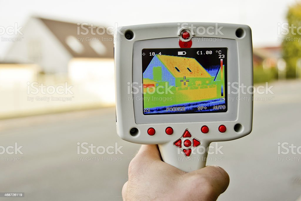 thermal imaging stock photo