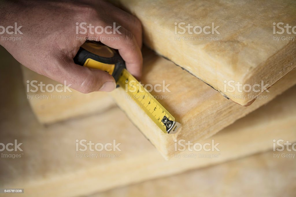 Thermal Insulation, Glass Wool stock photo