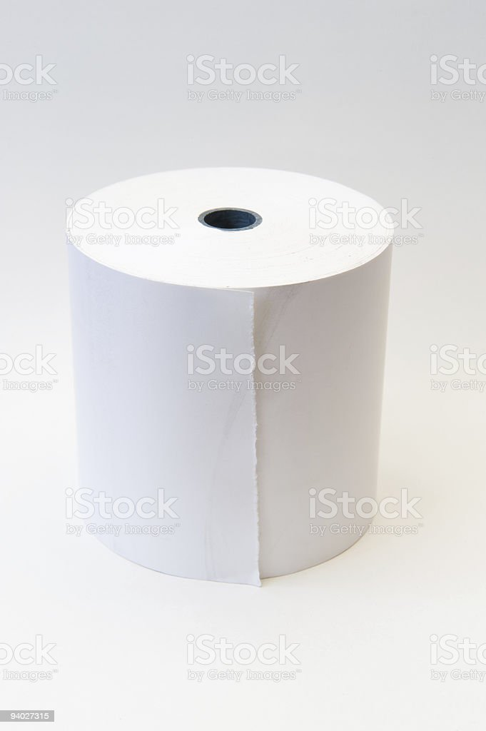 Thermal Paper Cash-register roll stock photo
