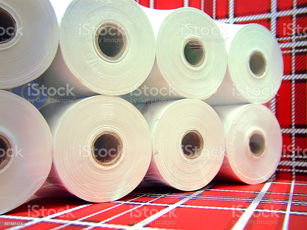 Thermal Paper Rolls stock photo