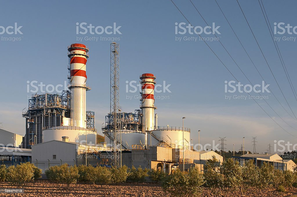 thermal plant royalty-free stock photo