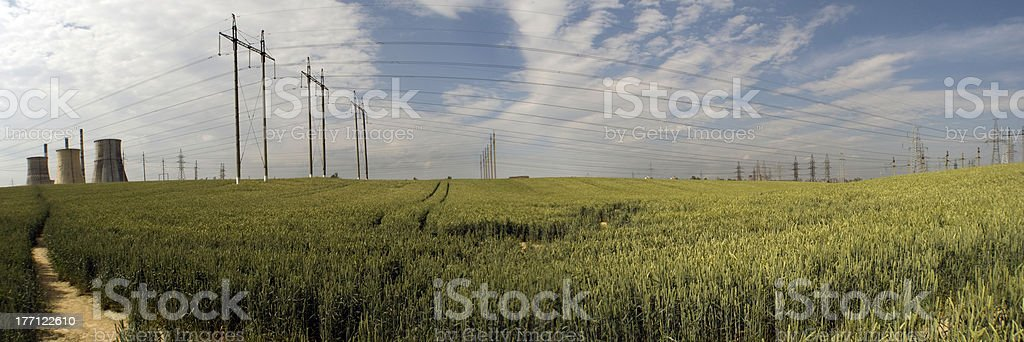 Thermal power plant in Minsk royalty-free stock photo