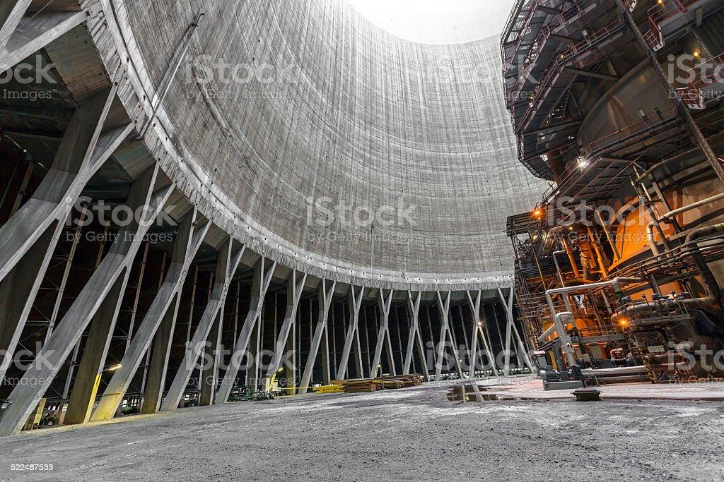 Thermal power plant interior stock photo