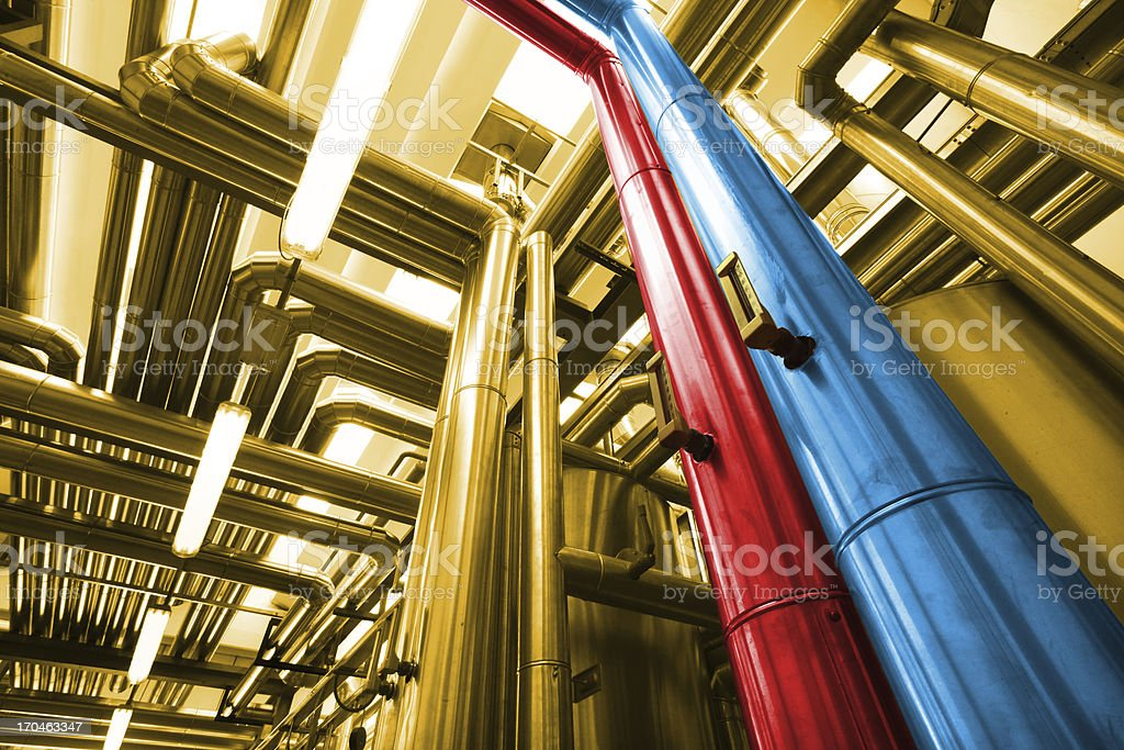 Thermal power plant royalty-free stock photo