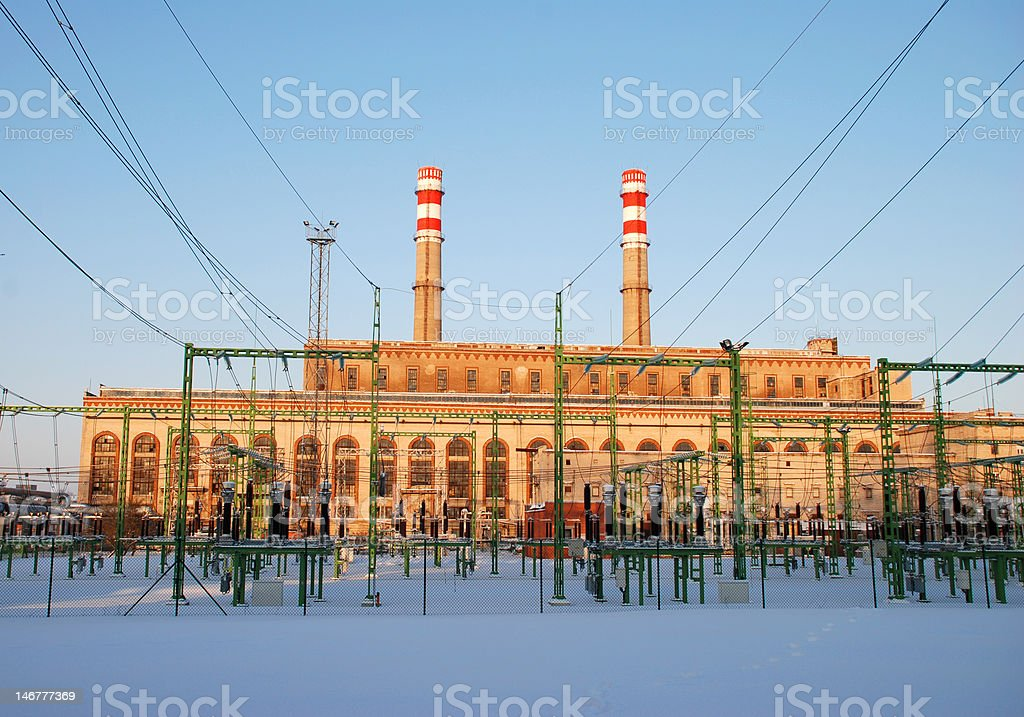 Thermal Power Station royalty-free stock photo