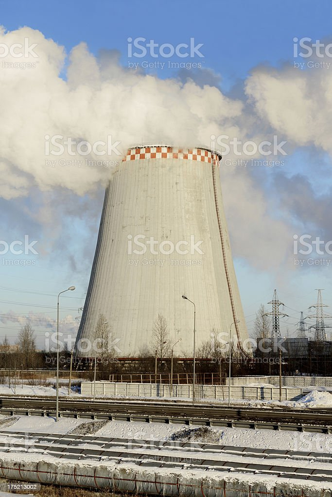 thermal power stations royalty-free stock photo