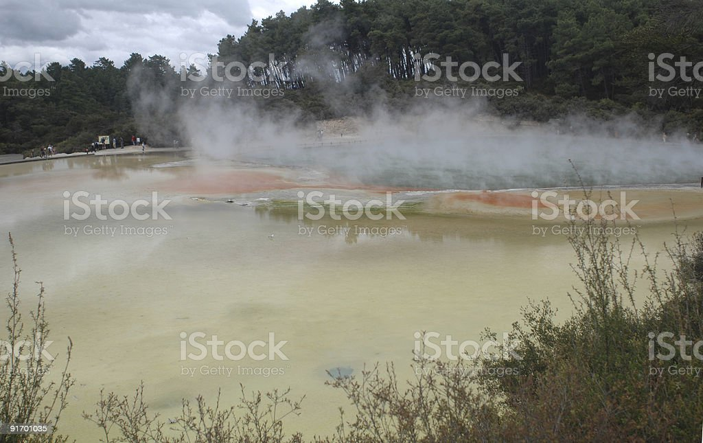 Thermal Spring, New Zealand royalty-free stock photo
