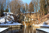 Thermal waterfall in winter - Slovakia