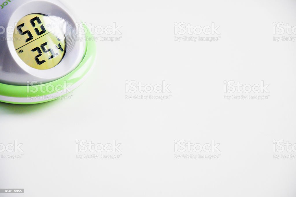 thermo hygrometer for home stock photo