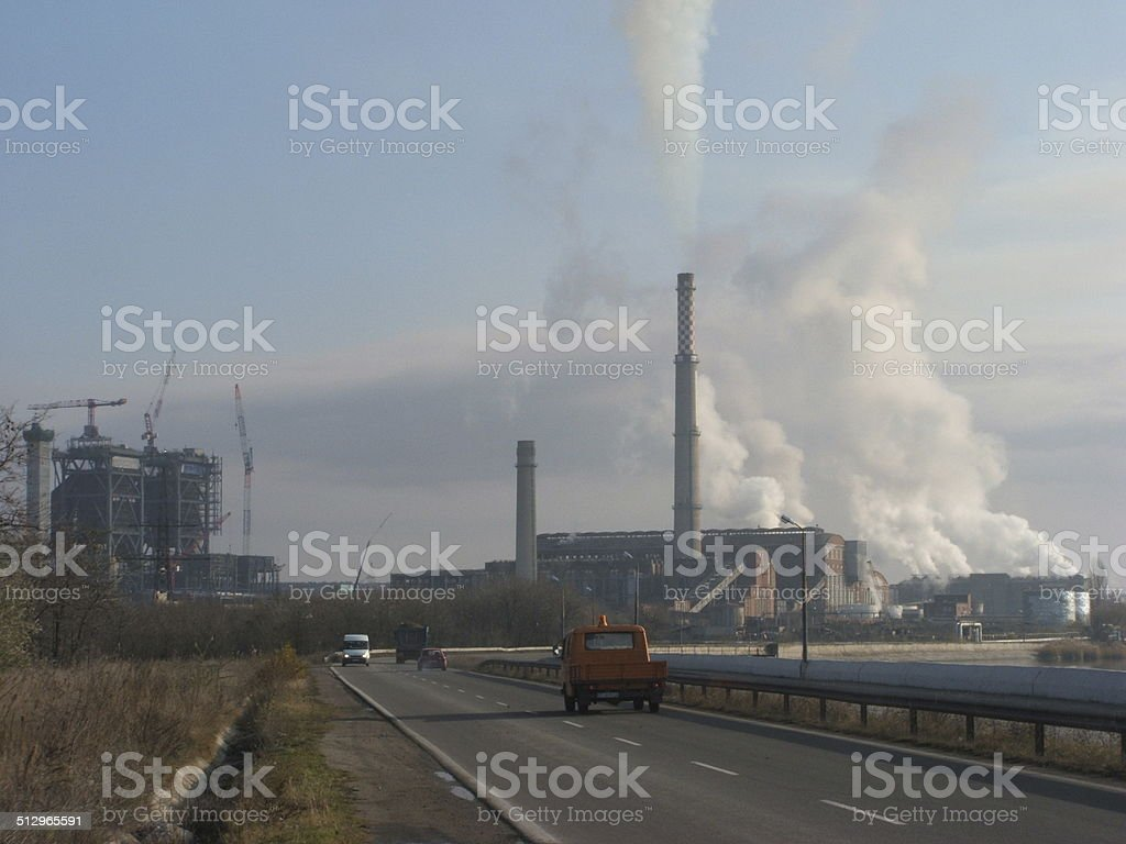 Thermoelectric Power Plant stock photo