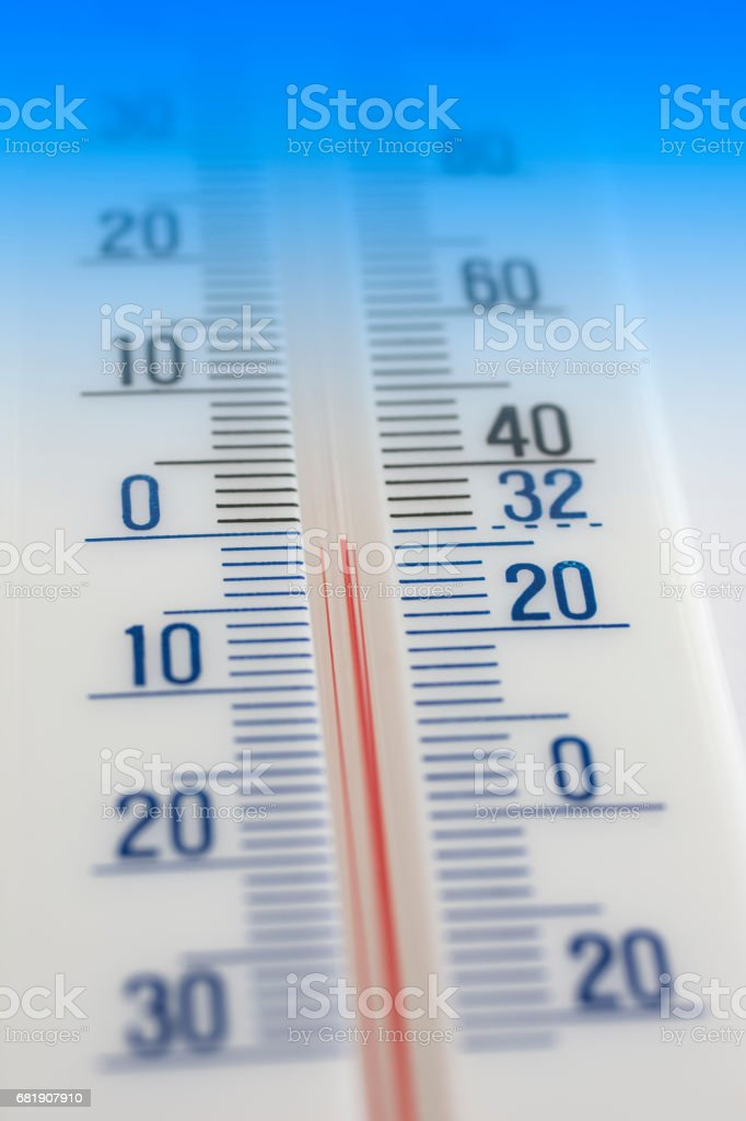Thermometer cold stock photo
