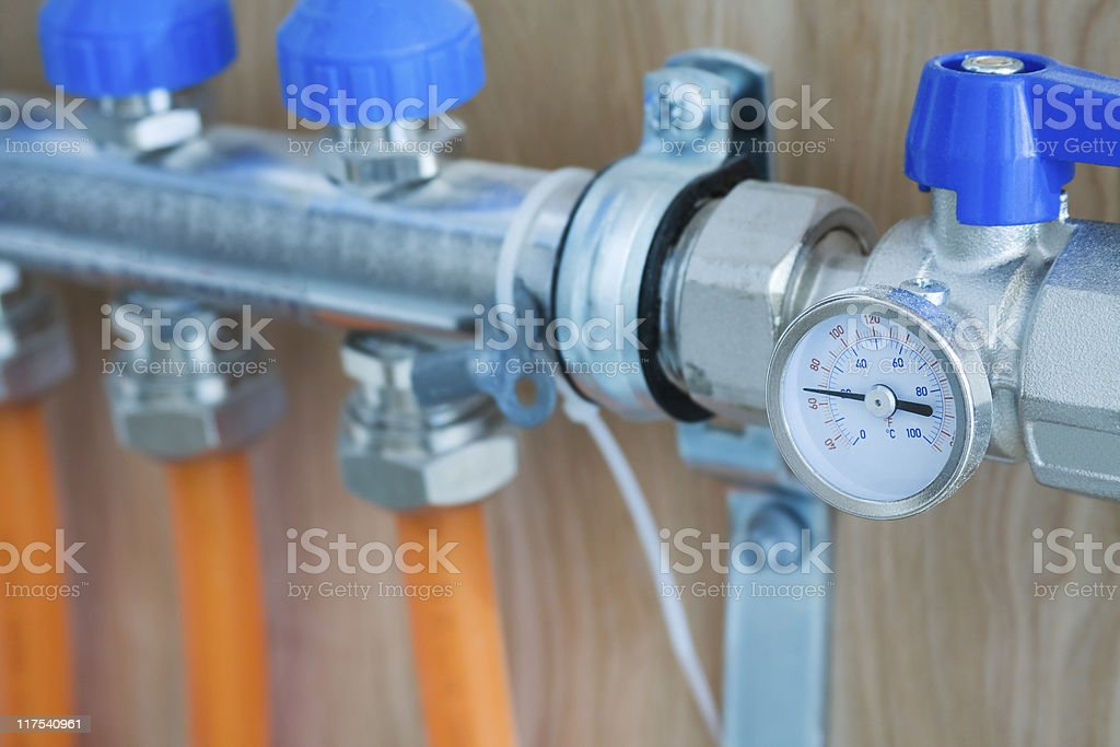 Thermometer for Radiant Floor Heat royalty-free stock photo