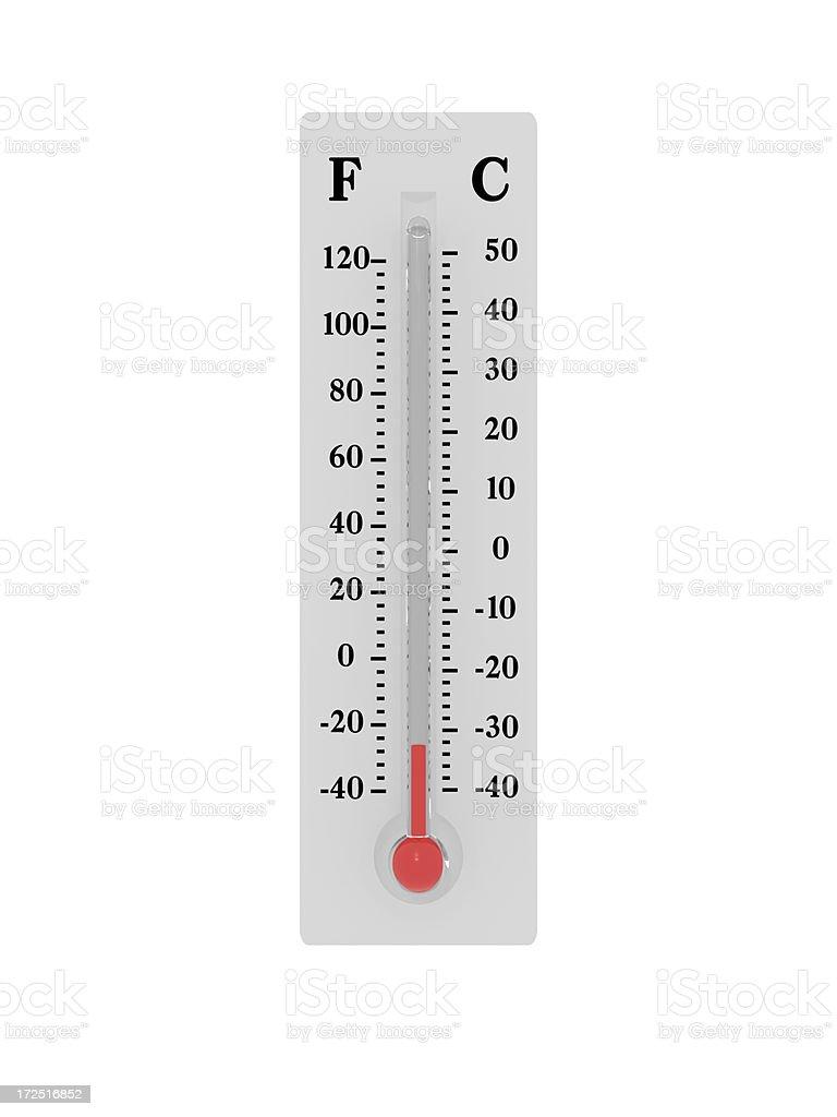 Thermometer - Freezing stock photo